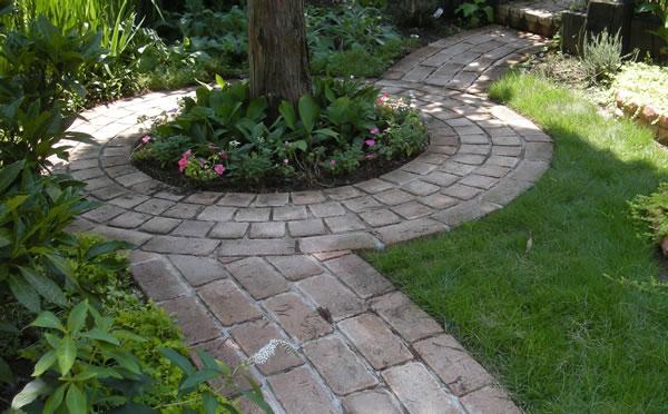 Photo brick paving floral 01